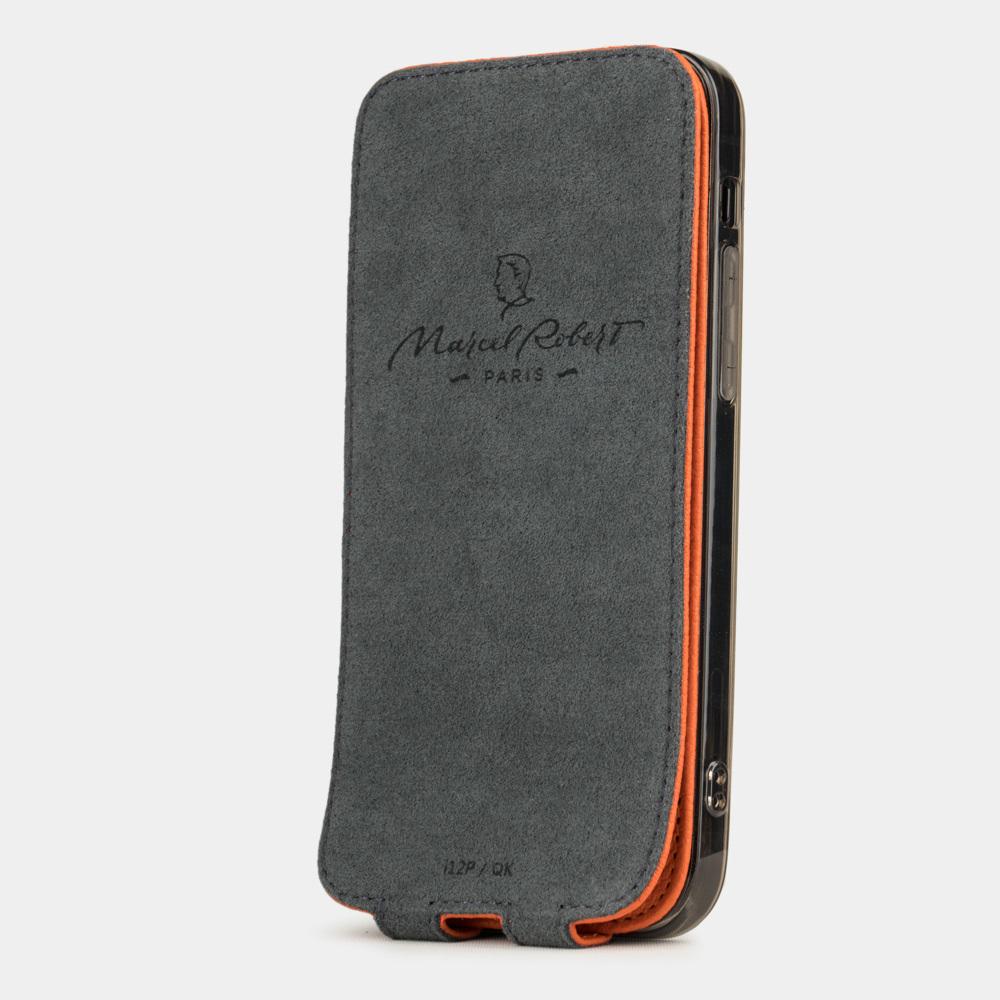 Чехол для iPhone 12 Pro Max из натуральной кожи теленка, оранжевого цвета