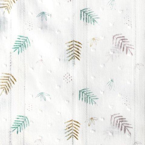 Ткань Plumetti Vintage Print – LEOPARD LEAVES