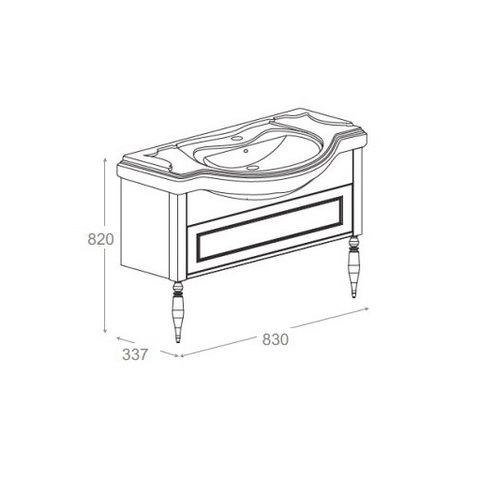 Комплект мебели Roca America 85 см (тумба с раковиной+зеркало+пенал)