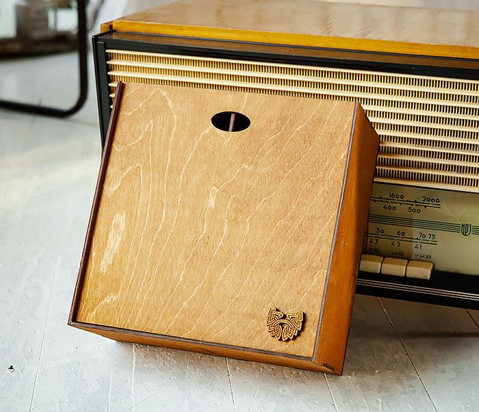 BOX235-2 Деревянная коробка для подарков с двумя отделениями (25*25*12 см) фото 05