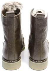 Зимние ботинки из натуральной кожи женские Studio27 576c Broun.