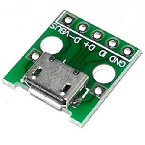 Адаптер micro USB 2.0 B гнездо - DIP2.54-5P