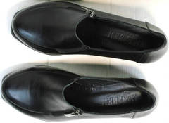 Женские черные туфли из натуральной кожи осень весна H&G BEM 107 03L-Black.