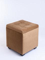 Пф-400-Я Пуфик квадратный (светло коричневый) с ящиком для хранения