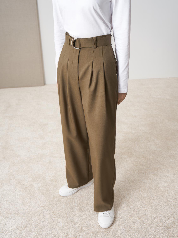 Широкие брюки Chloe с защипами
