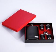 Подарочный набор Классика, фляжка 270 мл, воронка, 4 рюмки, фото 1