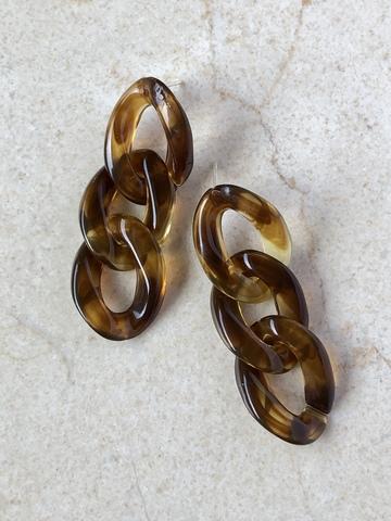 Серьги Теситура, коричневые
