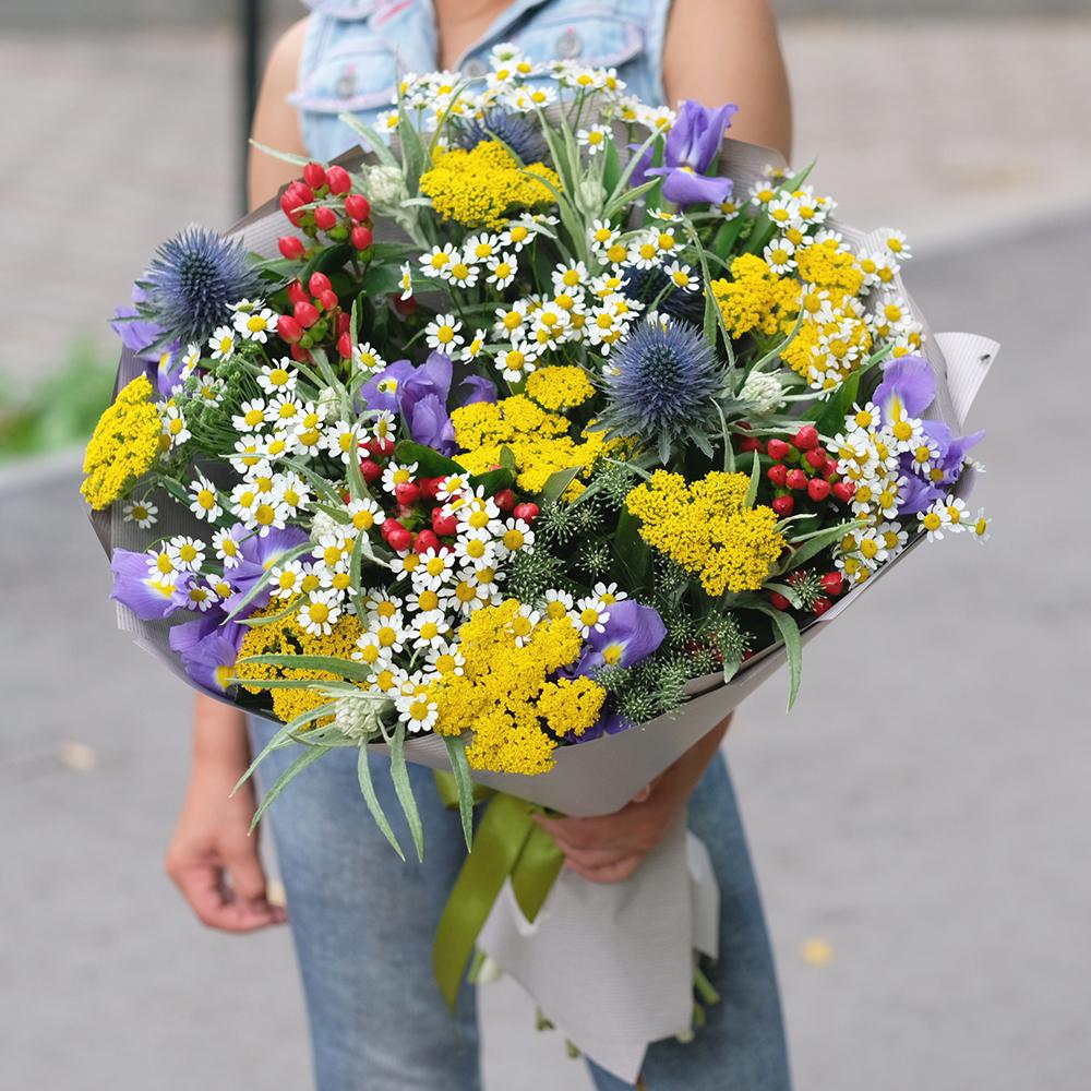 Купить воздушный легкий летний полевой букет в Перми онлайн доставка заказать круглосуточно