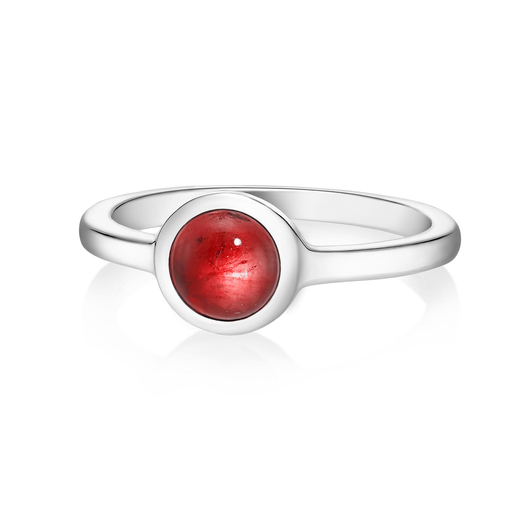 Кольцо ALPHA - Красный гранат