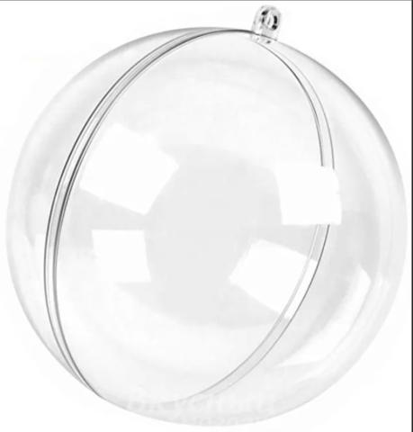 Пластиковый шар 8см.  разъёмный