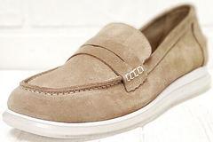 Осенние туфли женские лоферы бежевые Anna Lucci 2706-040 S Beige.