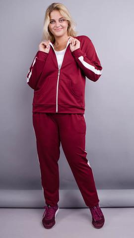Люсі. Спортивний костюм size plu. Бордо.
