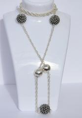 Ежевики+2 шарика (сотуар из серебра)