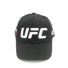 Кепка с вышитым логотипом белого цвета UFC (Бейсболка ЮФС) черная