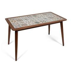 Стол с плиткой CT3052 Tanger (античный белый, рисунок - марокко)