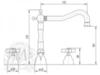 Смеситель для раковины на 3 отв. Migliore Princeton BN.PRN-812  схема
