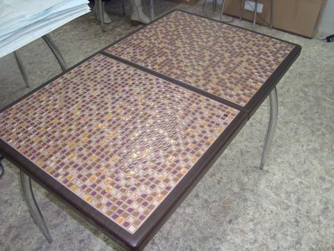 Стол  Мерида М с мозаикой