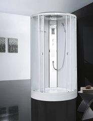 Душевая кабина Orans EW-113, 100х100см. профиль белый, стекло прозрачное