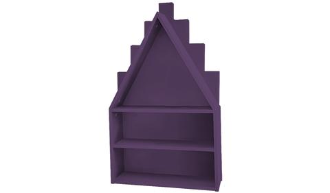 Полка-домик фиолетовая
