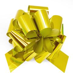 Бант Шар, Золото, Металлик, 21 см, 1 шт.