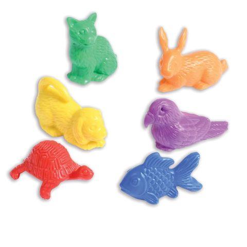 Развивающая игрушка фигурки Питомцы (счетный материал, 6 элементов) Edx education, арт. 13205C