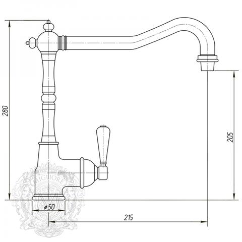 Смеситель для кухни  Migliore Hermitage ML.CUC-7083.BI схема