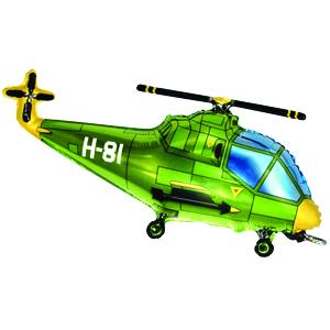 Фольгированный шар Вертолет зеленый 57см X 96см