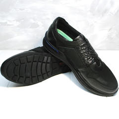 Кроссовки без шнурков и липучек мужские Luciano Bellini 1087 All Black