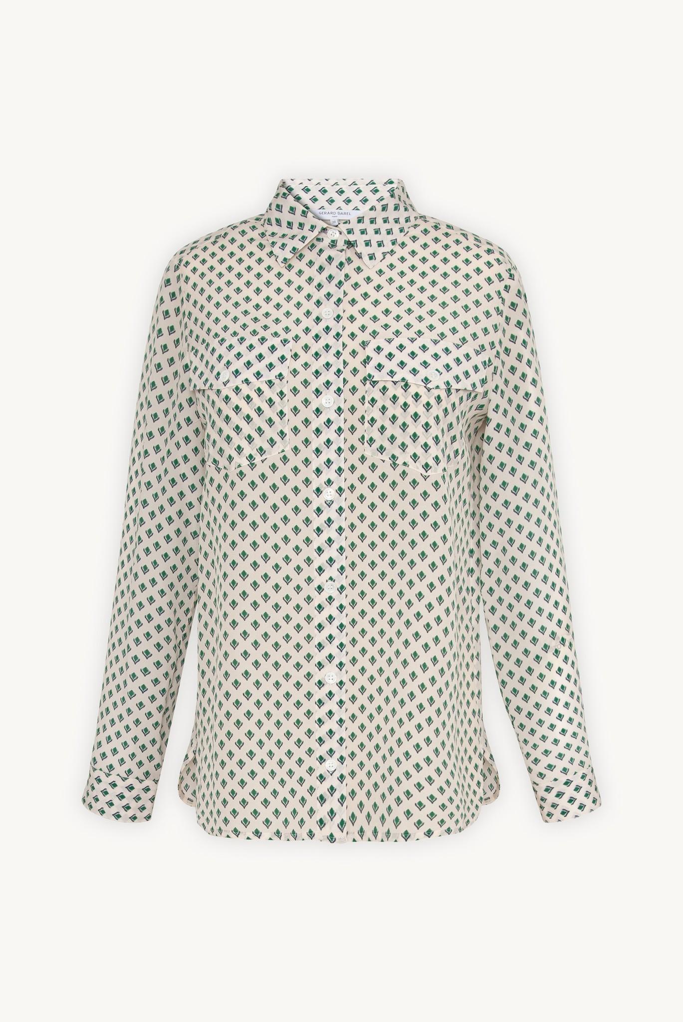 Рубашка с принтом из шелкового крепдешина