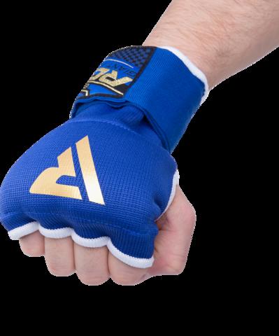 Внутренние гелевые перчатки с ремнями на запястьях, синие