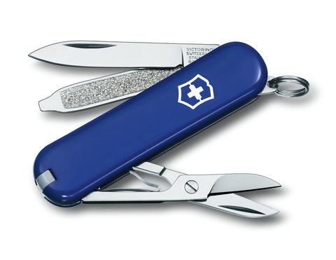 Нож-брелок Victorinox Classic Blue (0.6223.2) 7 функций, 58 мм. в сложенном виде, цвет синий | Wenger-Victorinox.Ru