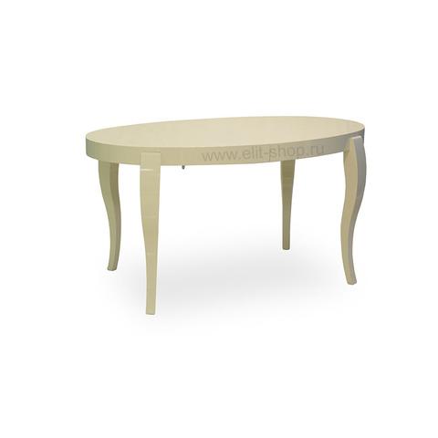 Стол ЭЛИС 140/90-ОВШ Кремовый глянец / 140(200)х90см