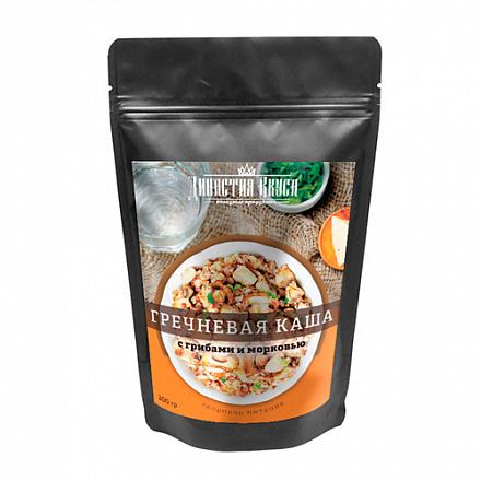 Каша гречневая с грибами и морковью Династия Вкуса, 200 г