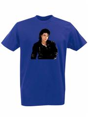 Футболка с принтом Майкл Джексон (Michael Jackson) синяя 001