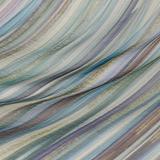 Шёлковый шифон цвета морской волны с металлизированной полоской