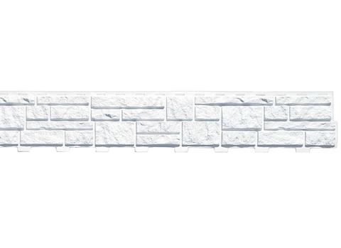 Сайдинг Tecos Натуральный камень - Белый