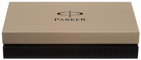 *Шариковая ручка Parker Duofold Historical Colors International K74, цвет: слоновая кость (White Ivorine GT)123