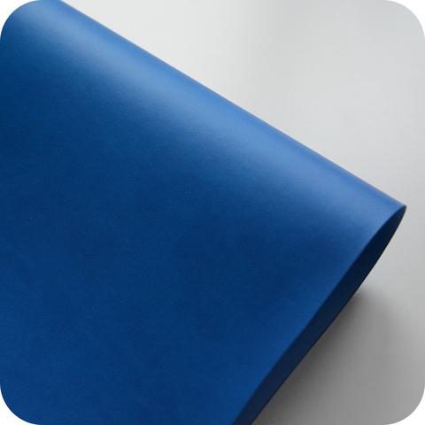 Кожзам переплетный матовый, сине-голубой