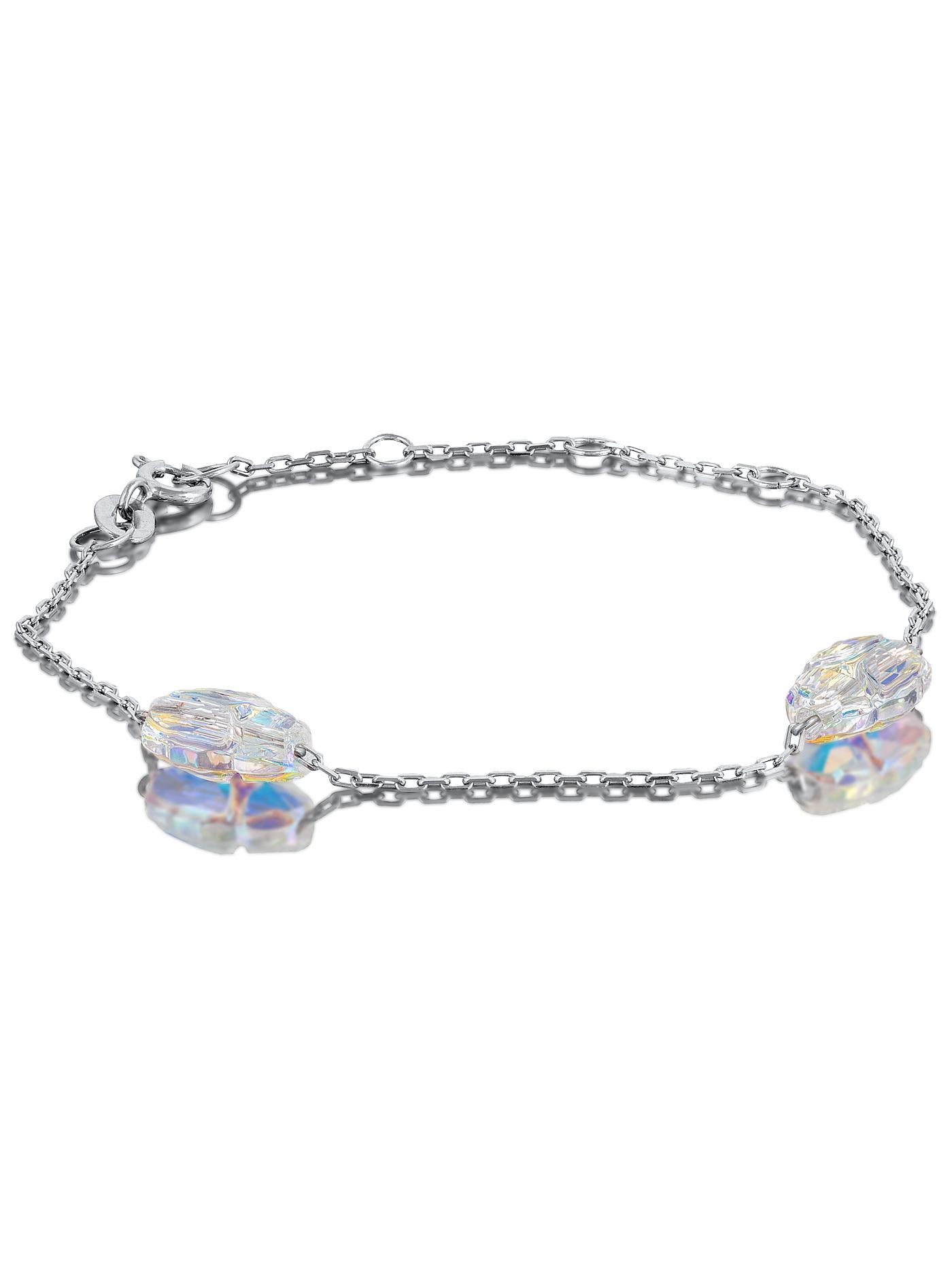 Серебряный браслет с кристаллами Swarovski
