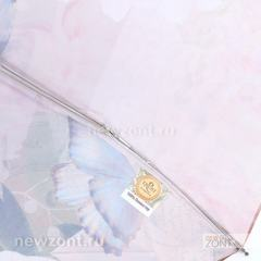 Большой мини зонт от дождя TRUST с цветами и голубыми бабочками