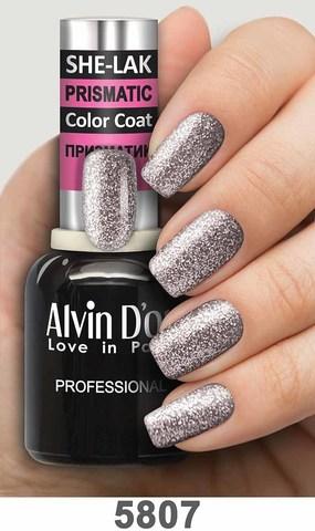 Alvin D`or Лак для ногтей SHE-LAK PRISMATIC  тон 5807 -8мл