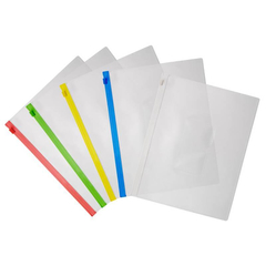 Папка-конверт на молнии Аttache A5 в ассортименте 5 шт/уп