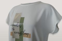 Блузка Elite 5744 геометрия надписи к/р