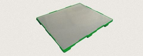 Поддон пластиковый сплошной 1200x1000x150 мм. Цвет: Зеленый