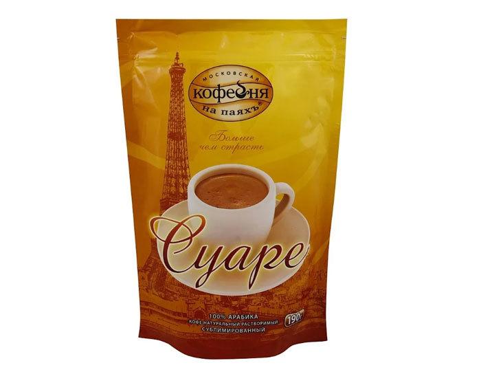 купить Кофе растворимый Московская Кофейня на Паяхъ Суаре, 190 г пакет