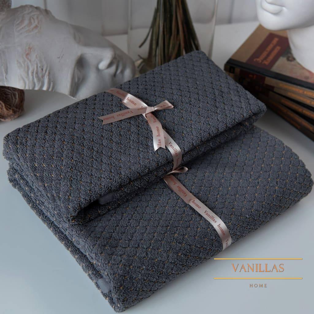Полотенце Арте серый велюр