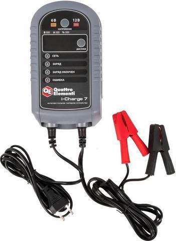Зарядное устройство QUATTRO ELEMENTI i-Charge 7 (6 / 12В, 7 А, дисплей) полный автомат (771-695)
