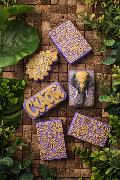 Текстурный лист Пейсли. Примеры готового мыла