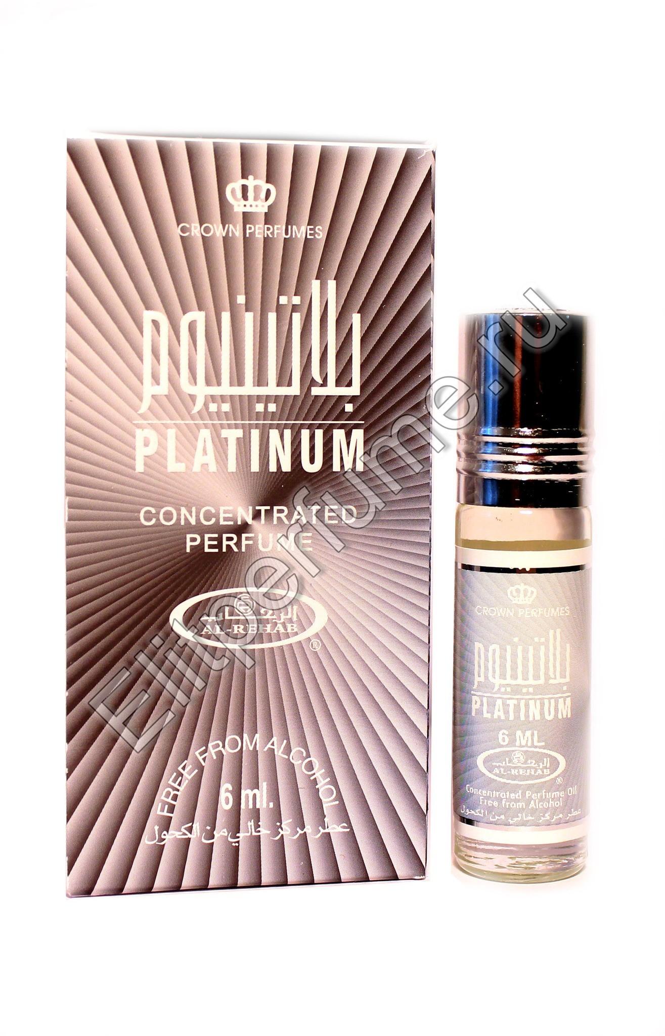 Platinum Платинум 6 мл арабские мужские масляные духи от Аль Рехаб Al Rehab