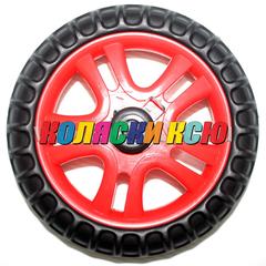 Колесо для детской коляски №005086 не надув, наружный диаметр 168 мм, на ось 8мм Цвет: КРАСНЫЙ